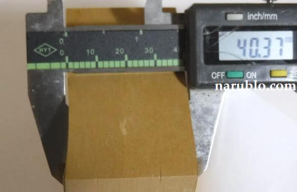 ダイソーで購入した400枚クラフト付箋紙の厚さを測ってみました