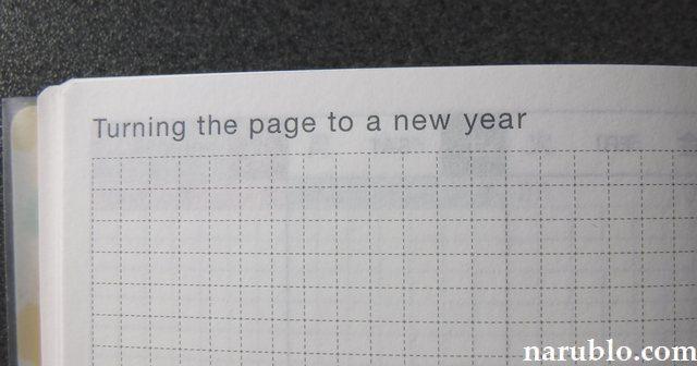 ほぼ日手帳の「Turning the page to a new year」には何を書く?