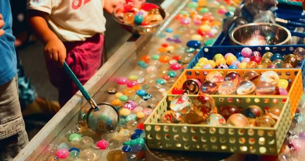 麻布十番祭りでは子どもたちも楽しむことが出来る、子どもと楽しむふれあいこども広場があります