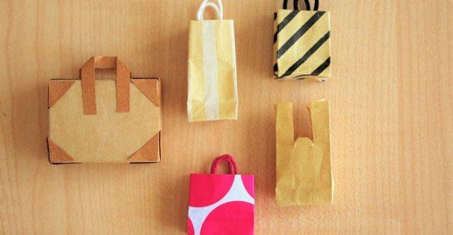 商品を入れてお客様にお渡しする袋を準備