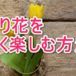 切り花を長持ちさせる方法
